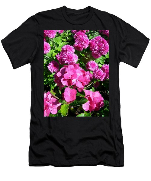Hydrangea And Mums  Men's T-Shirt (Athletic Fit)