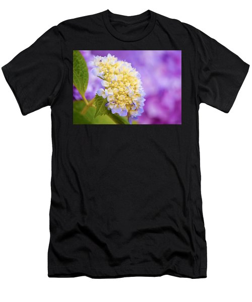 Hydrangea On Purple Men's T-Shirt (Athletic Fit)