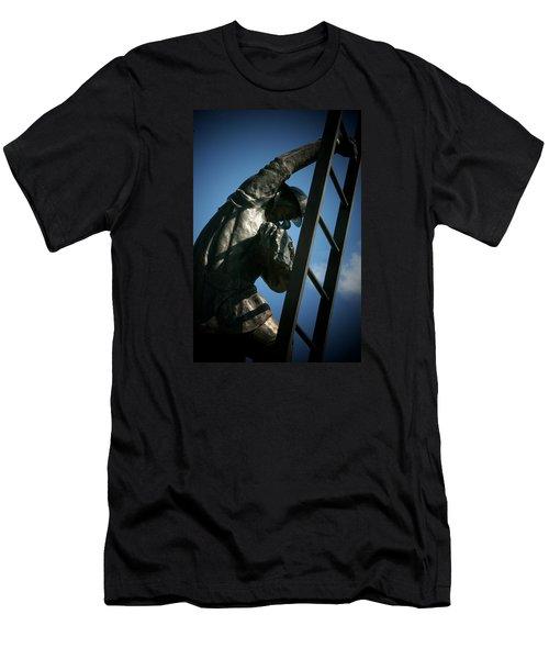 Iaff Fallen Firefighters Memorial  2 Men's T-Shirt (Slim Fit) by Susan  McMenamin
