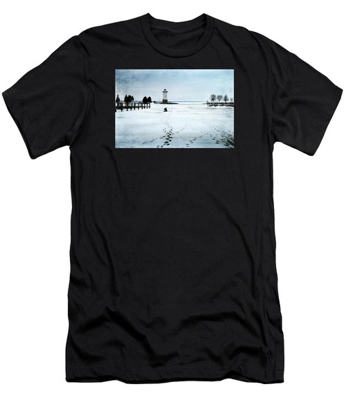 Ice Fishing Solitude 2 Men's T-Shirt (Athletic Fit)