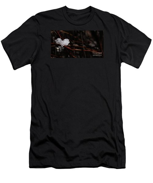 Men's T-Shirt (Athletic Fit) featuring the photograph Ice  by Linda Shafer