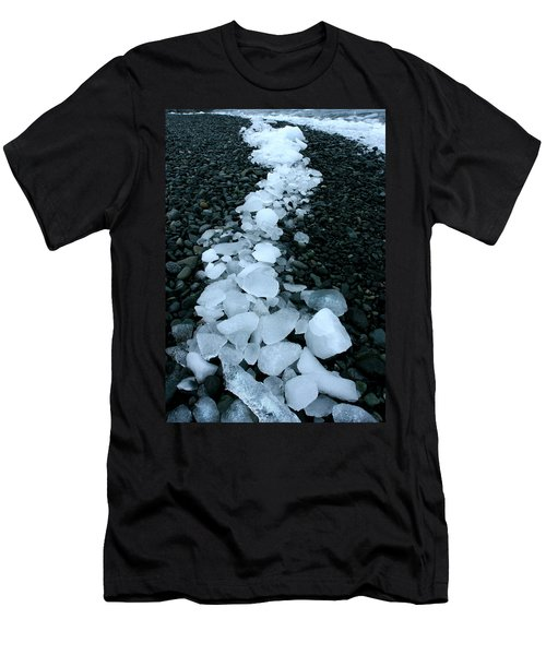 Men's T-Shirt (Slim Fit) featuring the photograph Ice Pebbles by Amanda Stadther