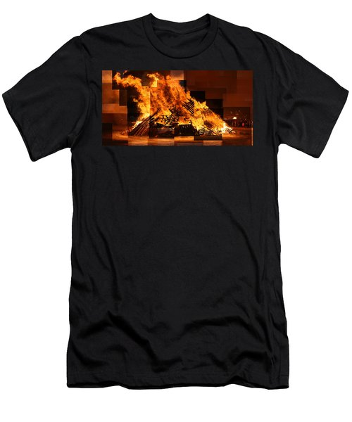 Iceland Bonfire Men's T-Shirt (Athletic Fit)