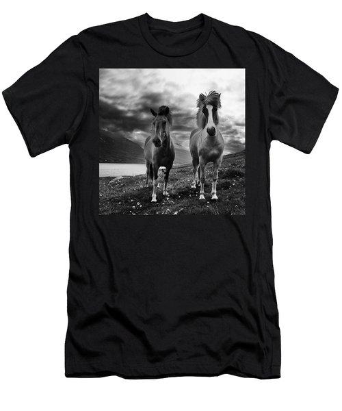Icelandic Horses Men's T-Shirt (Slim Fit) by Frodi Brinks