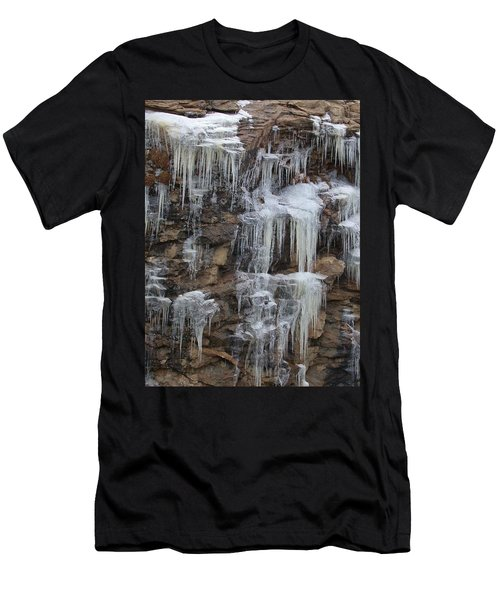 Icicle Cliffs Men's T-Shirt (Athletic Fit)