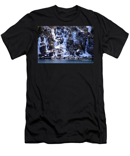 Men's T-Shirt (Slim Fit) featuring the photograph Icicle House by Barbara Griffin