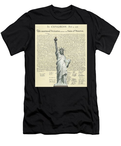 Icon Of Freedom Men's T-Shirt (Athletic Fit)