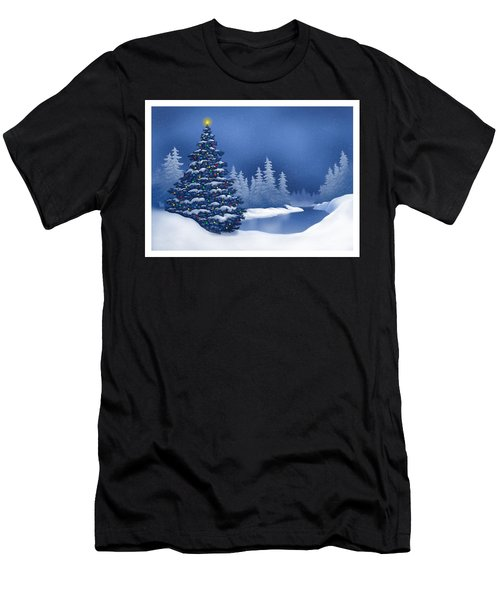 Icy Blue Men's T-Shirt (Athletic Fit)