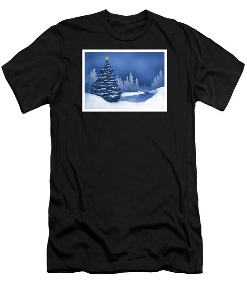 Icy Blue Men's T-Shirt (Athletic Fit)