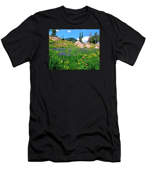 Idaho Mountain Wildflowers Men's T-Shirt (Athletic Fit)