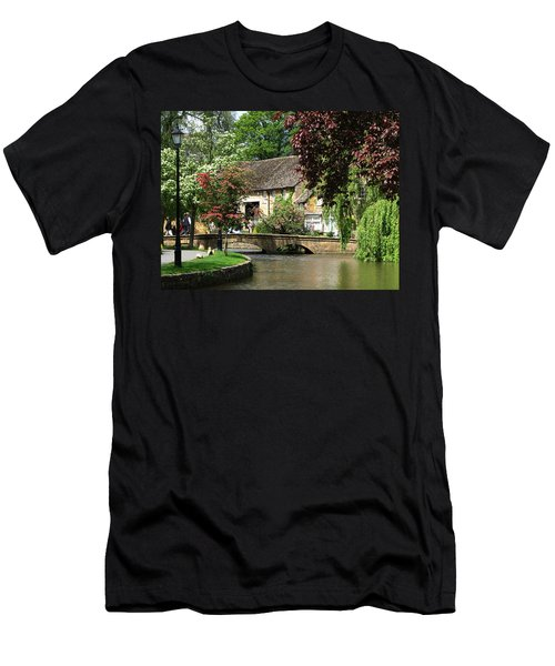 Idyllic Village Scene Men's T-Shirt (Athletic Fit)