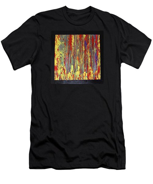 Men's T-Shirt (Slim Fit) featuring the painting If...then by Michael Cross