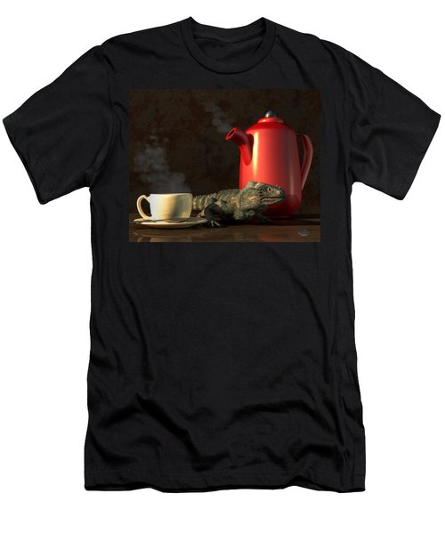 Iguana Coffee Men's T-Shirt (Athletic Fit)