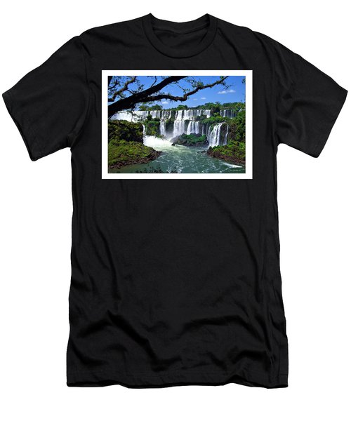 Iguazu Falls In Argentina Men's T-Shirt (Athletic Fit)