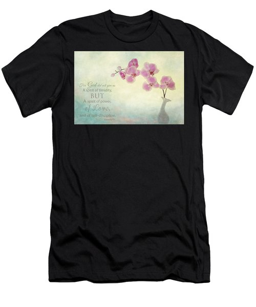 Ikebana With Message Men's T-Shirt (Athletic Fit)