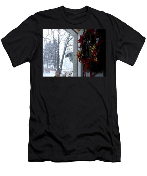 Men's T-Shirt (Slim Fit) featuring the photograph I'll Be Home For Christmas by Shana Rowe Jackson