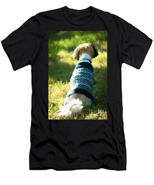 Men's T-Shirt (Slim Fit) featuring the photograph I'll Be Waiting For You by Ellen Cotton