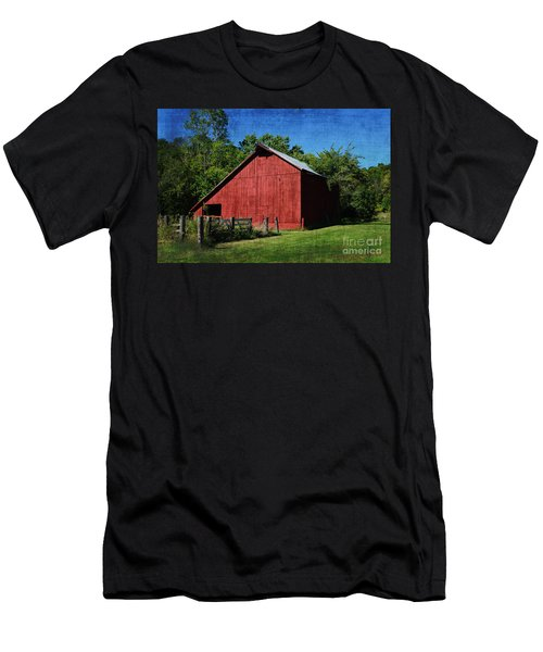 Illinois Red Barn 2 Men's T-Shirt (Athletic Fit)