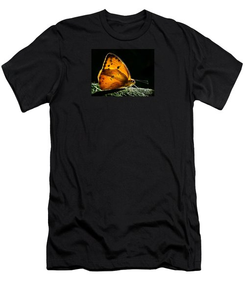 Illuminated Butterfly Men's T-Shirt (Slim Fit) by Alice Cahill
