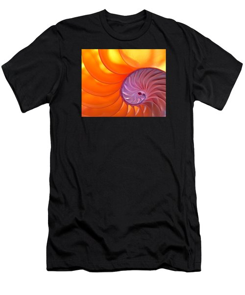 Illuminated Translucent Nautilus Shell With Spiral Men's T-Shirt (Athletic Fit)