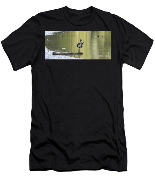 Immature White Ibis Men's T-Shirt (Athletic Fit)