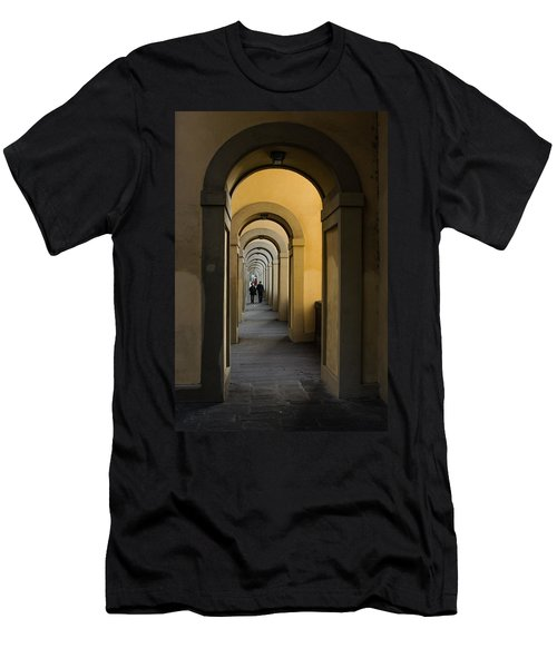 In A Distance - Vasari Corridor In Florence Italy  Men's T-Shirt (Athletic Fit)