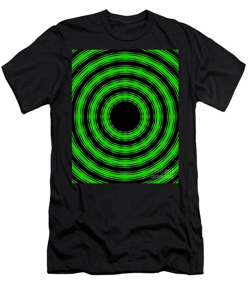 In Circles-green Version Men's T-Shirt (Slim Fit) by Roz Abellera Art
