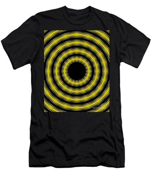 In Circles- Yellow Version Men's T-Shirt (Slim Fit) by Roz Abellera Art