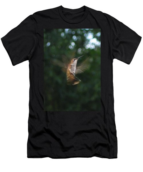 Men's T-Shirt (Slim Fit) featuring the photograph In Flight by Photographic Arts And Design Studio