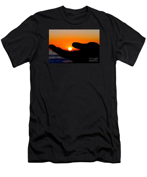 In His Hands By Diana Sainz Men's T-Shirt (Athletic Fit)