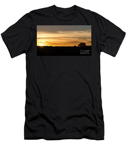 In The Evening I Rest Men's T-Shirt (Slim Fit) by CML Brown