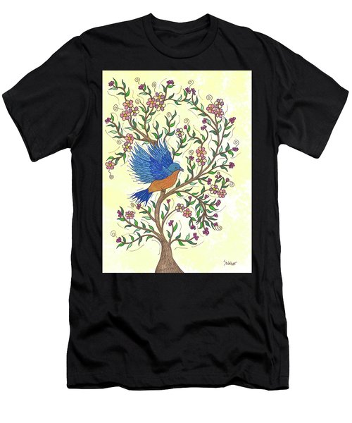 In The Garden - Bluebird Men's T-Shirt (Athletic Fit)