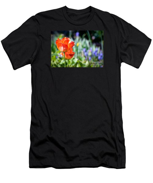 Men's T-Shirt (Slim Fit) featuring the photograph In The Garden by Kerri Farley