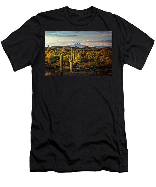 In The Golden Hour  Men's T-Shirt (Slim Fit) by Saija  Lehtonen