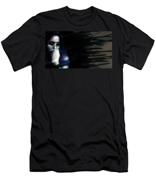 Men's T-Shirt (Slim Fit) featuring the photograph In The Shadows Of Doubt  by Jessica Shelton