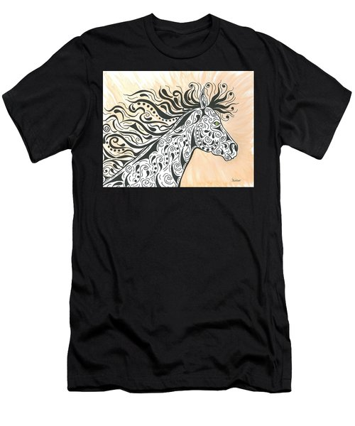 Men's T-Shirt (Slim Fit) featuring the painting In The Wind by Susie WEBER