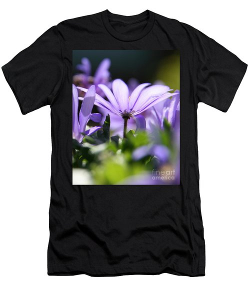 Floral Purple Light  Men's T-Shirt (Slim Fit)