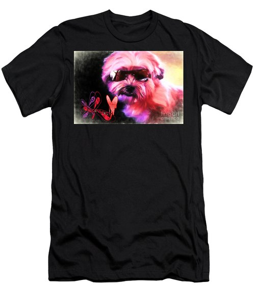 Men's T-Shirt (Athletic Fit) featuring the digital art Incognito Innocence by Kathy Tarochione