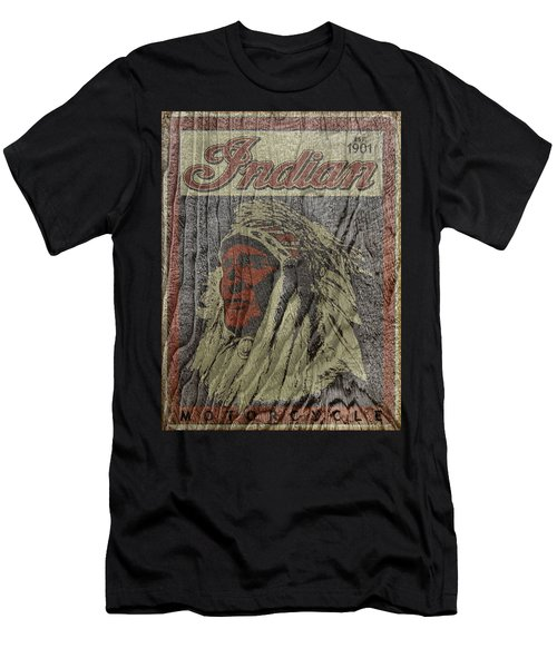 Indian Motorcycle Postertextured Men's T-Shirt (Athletic Fit)