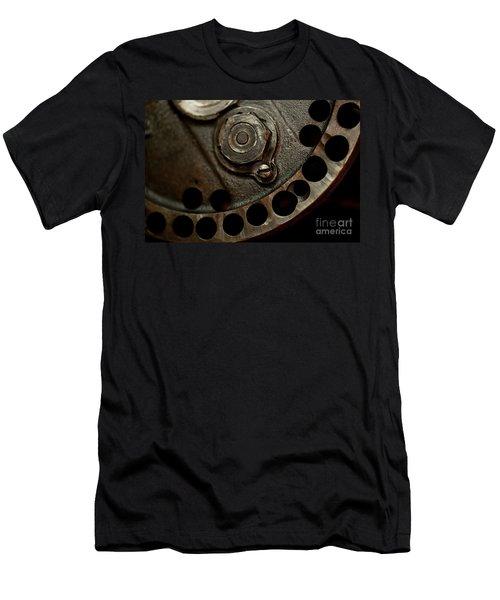 Indian Racer Crankshaft Fly Wheel Men's T-Shirt (Slim Fit) by Wilma  Birdwell