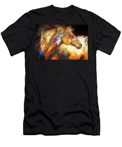 Indian War Horse Golden Sun Men's T-Shirt (Athletic Fit)