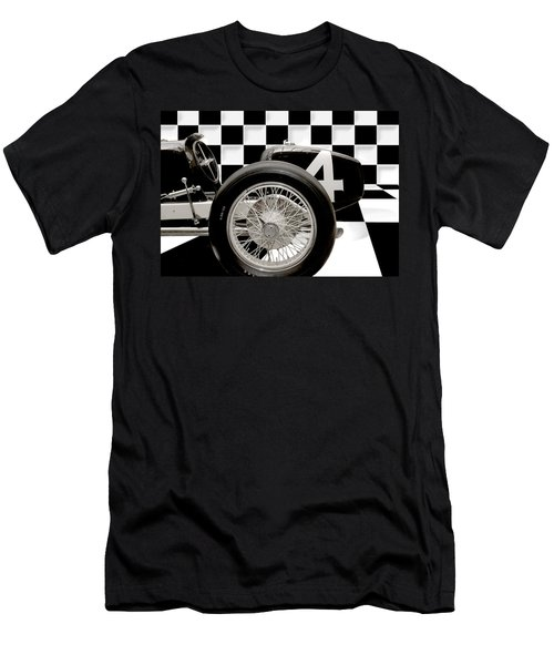 Indianapolis Motor Speedway Men's T-Shirt (Slim Fit) by Gary Warnimont