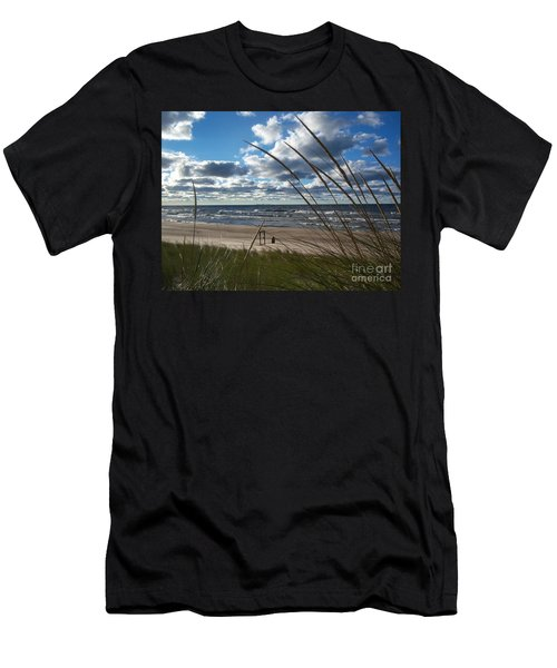 Indiana Dunes' Lake Michigan Men's T-Shirt (Athletic Fit)