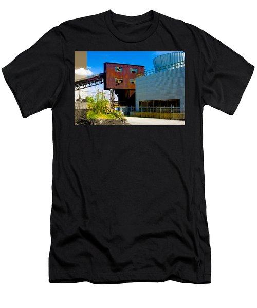 Industrial Power Plant Architectural Landscape Men's T-Shirt (Athletic Fit)