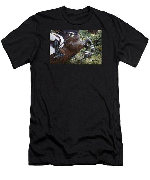 Men's T-Shirt (Slim Fit) featuring the photograph Inmidair by Joan Davis