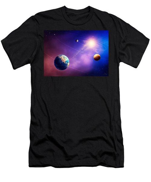 Inner Solar System Planets Men's T-Shirt (Athletic Fit)