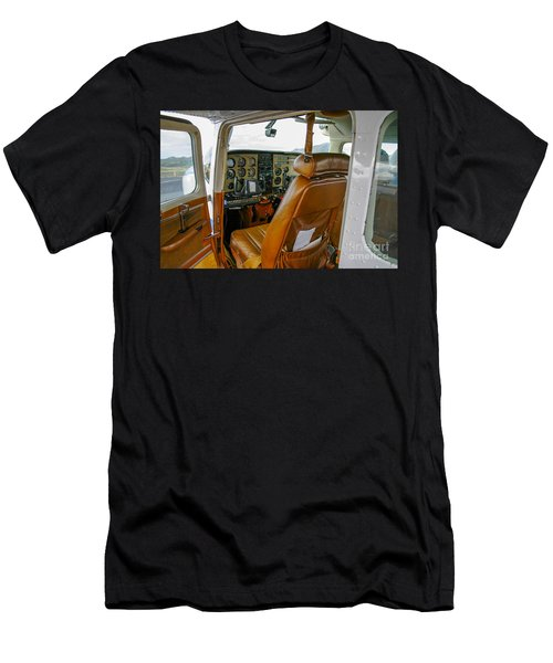 inside a small Cesna Men's T-Shirt (Athletic Fit)