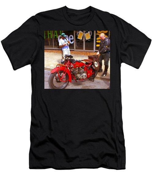 Inspecting Indian #70 Men's T-Shirt (Athletic Fit)