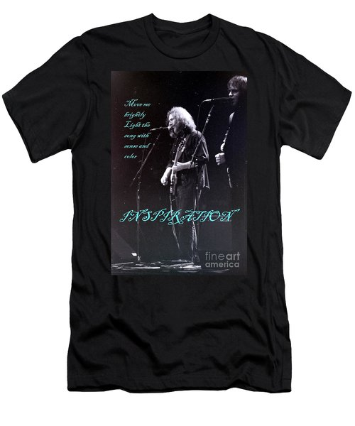 Men's T-Shirt (Slim Fit) featuring the photograph Inspiration Move Me Brightly - Concerts -  Dead by Susan Carella