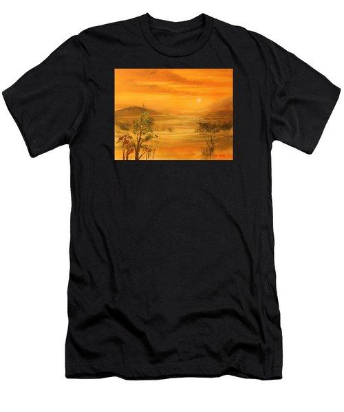 Intense Orange Men's T-Shirt (Athletic Fit)